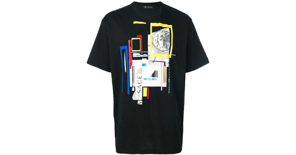 4e018f2c Versace - Black Graphic Medusa Print T-shirt for Men - Lyst