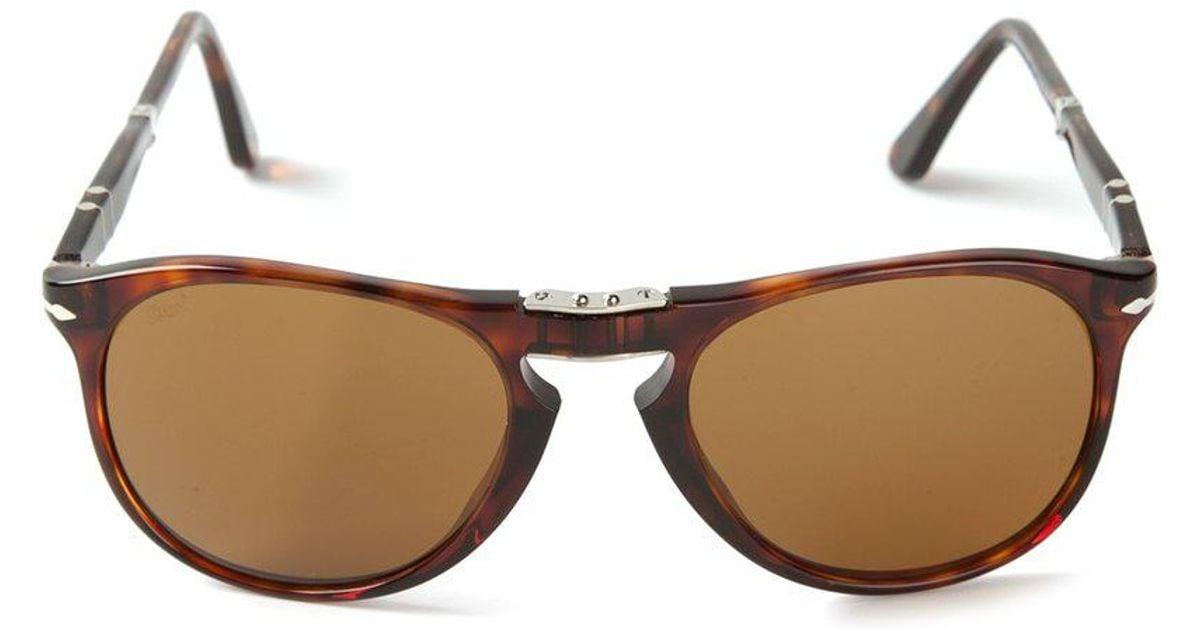 7a05a29f10 Persol Foldable  steve Mcqueen  Sunglasses in Brown - Lyst