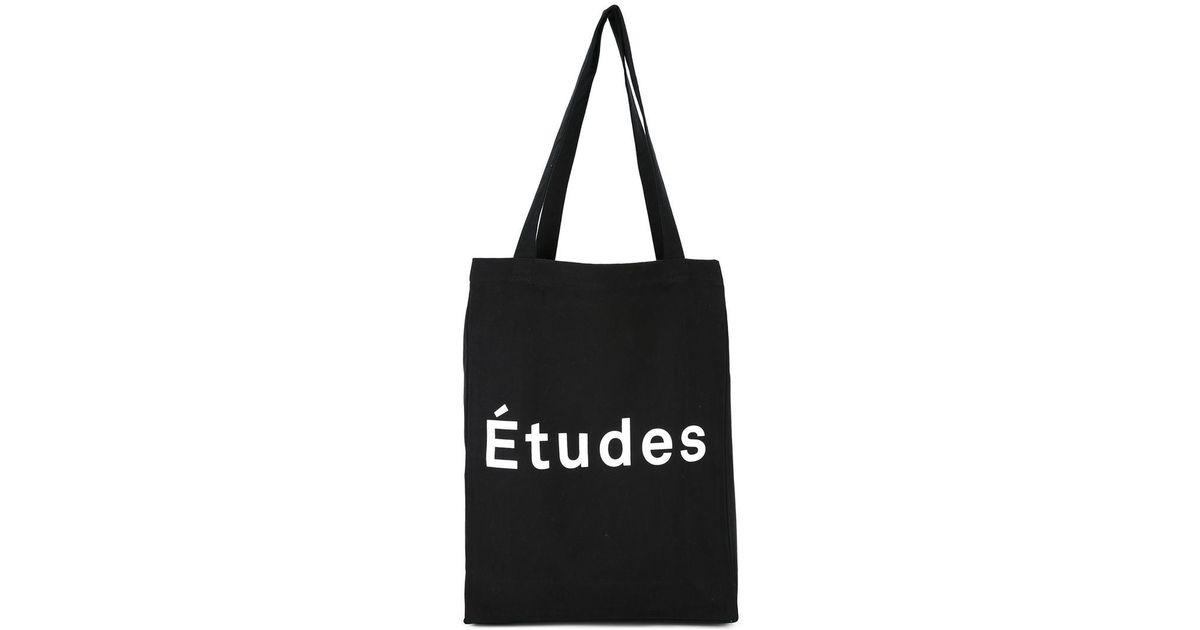 logo print tote - Black Études Studio Cheap Comfortable Buy Cheap Low Price QFxngWBj