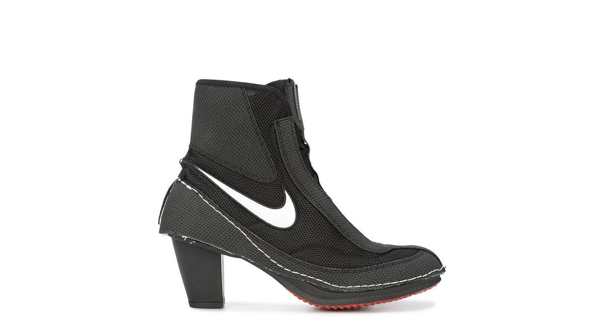 cheaper 03637 b9036 Lyst - Nike X Comme De Garçons Block Heel Boots in Black