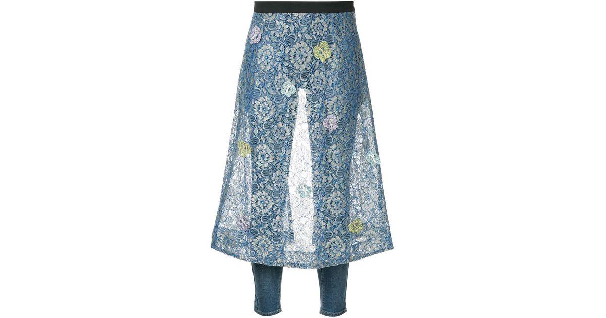 Purchase Sale Online butterfly lace apron 3Y jeans - Blue Tu Es Mon TRÉSOR Visit New Online Discount Codes Really Cheap Excellent Sale Online lSeGN