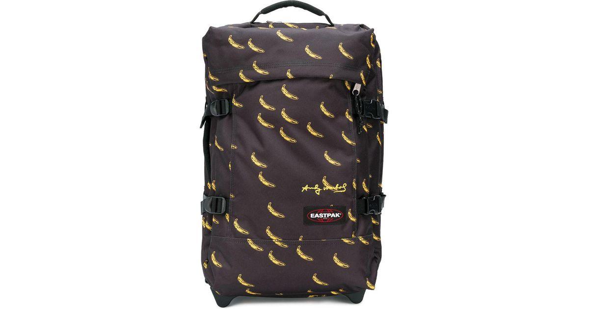 Lyst - Eastpak Banana Print Pull Bag in Black 6f1937c79a9