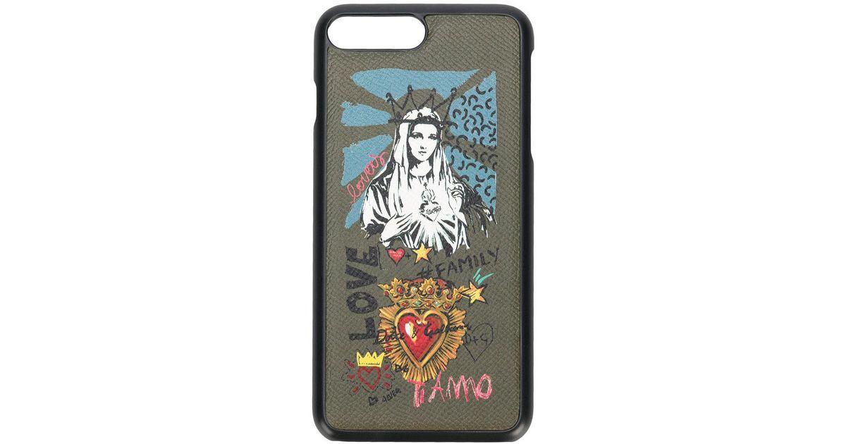 finest selection f3d1d fe6d4 Dolce & Gabbana - Green Madonna Iphone 8 Plus Case for Men - Lyst