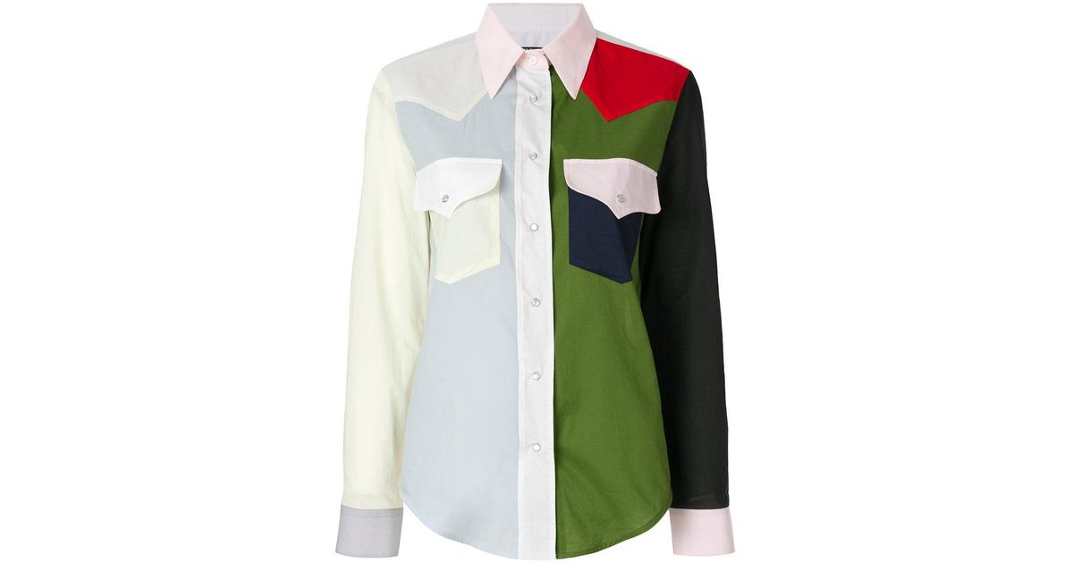 Shipping Outlet Store Online colour-block western shirt - Multicolour CALVIN KLEIN 205W39NYC Buy Cheap Eastbay Cheap Affordable Buy Cheap Top Quality Cheap Get Authentic vG3Bm