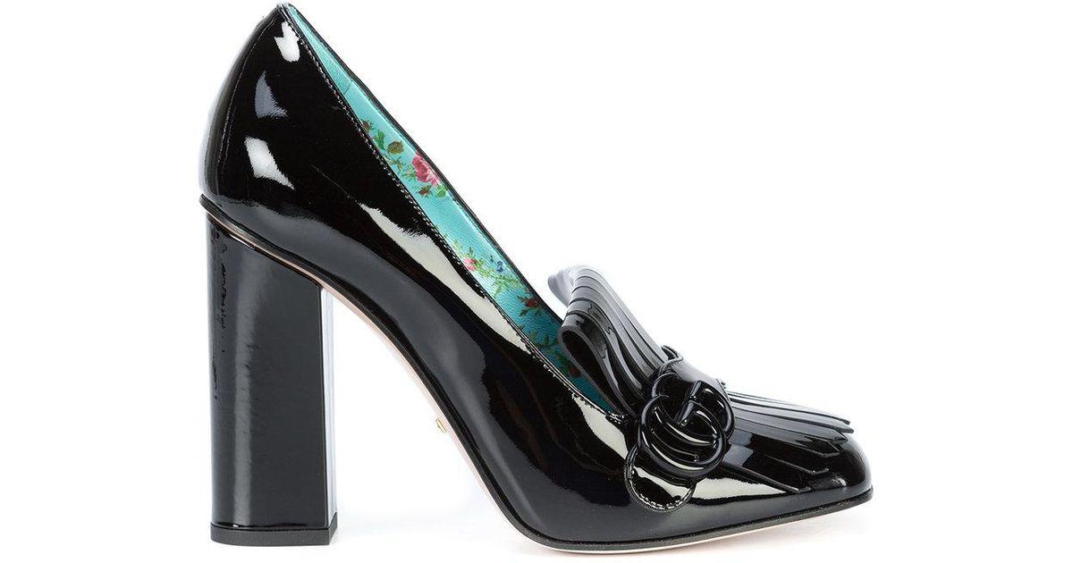 1d56868af1a Lyst - Gucci Marmont High Heel Pumps in Black