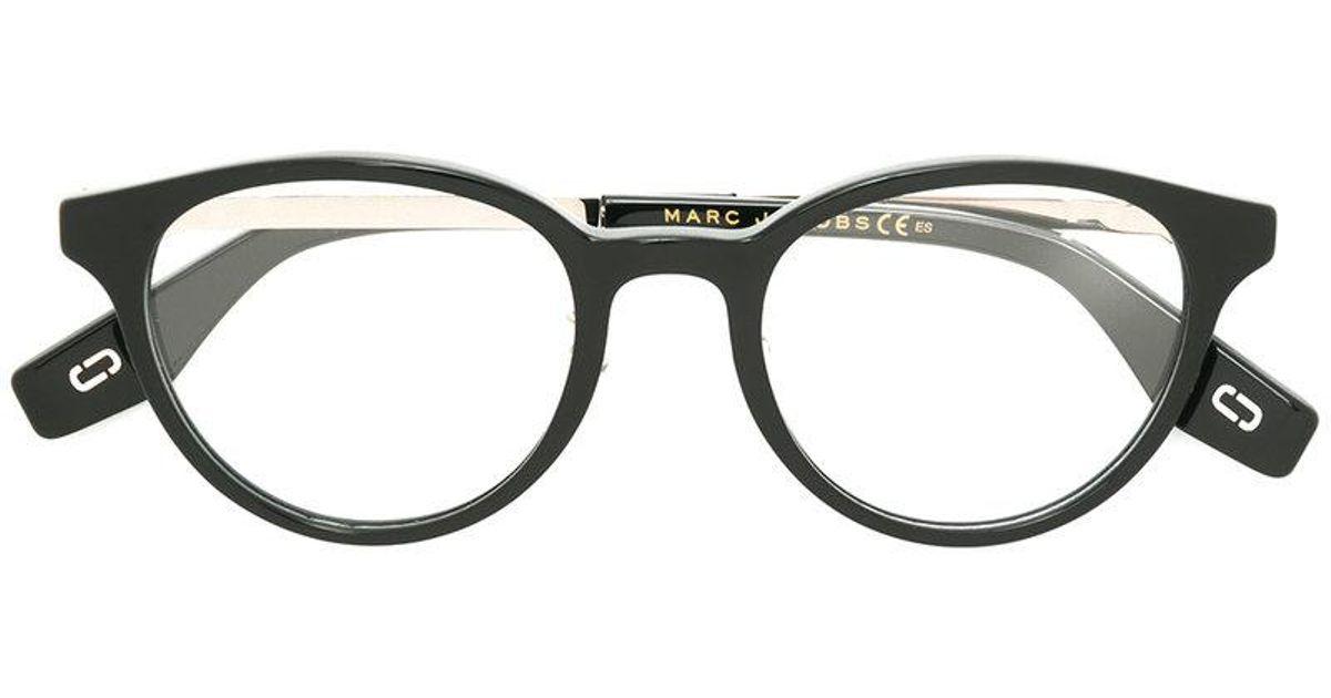 3273acfc6ed78 Marc Jacobs Round Frame Glasses in Black - Lyst