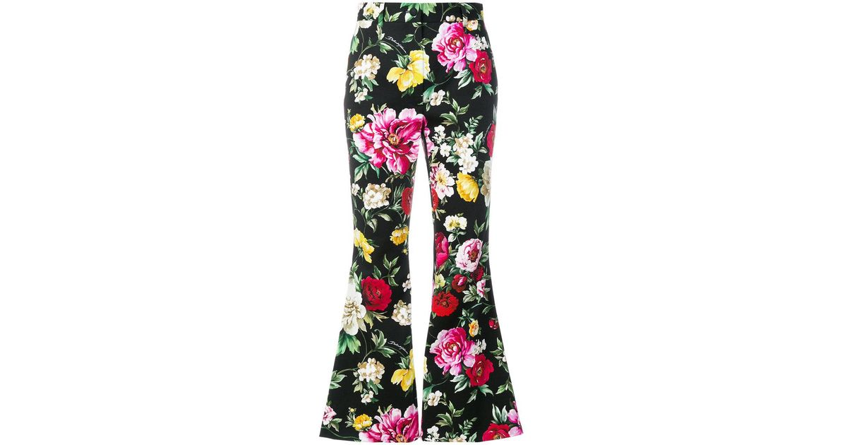 floral print cropped flare trousers - Green Dolce & Gabbana Discount Purchase nIHlCQsg