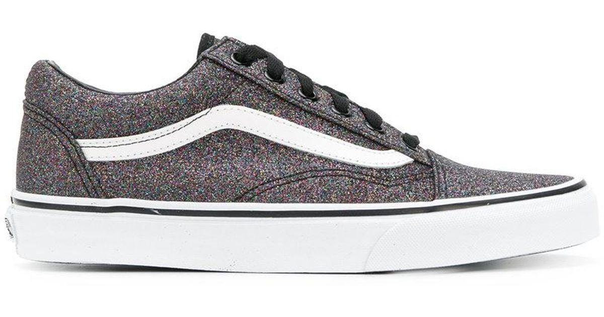 33e5c195d83f Lyst - Vans Old Skool Glitter Sneakers in Black