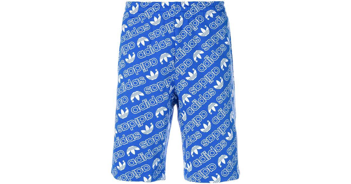Adidas Blue Shorts For Aop Men In Lyst 0Iwd6I