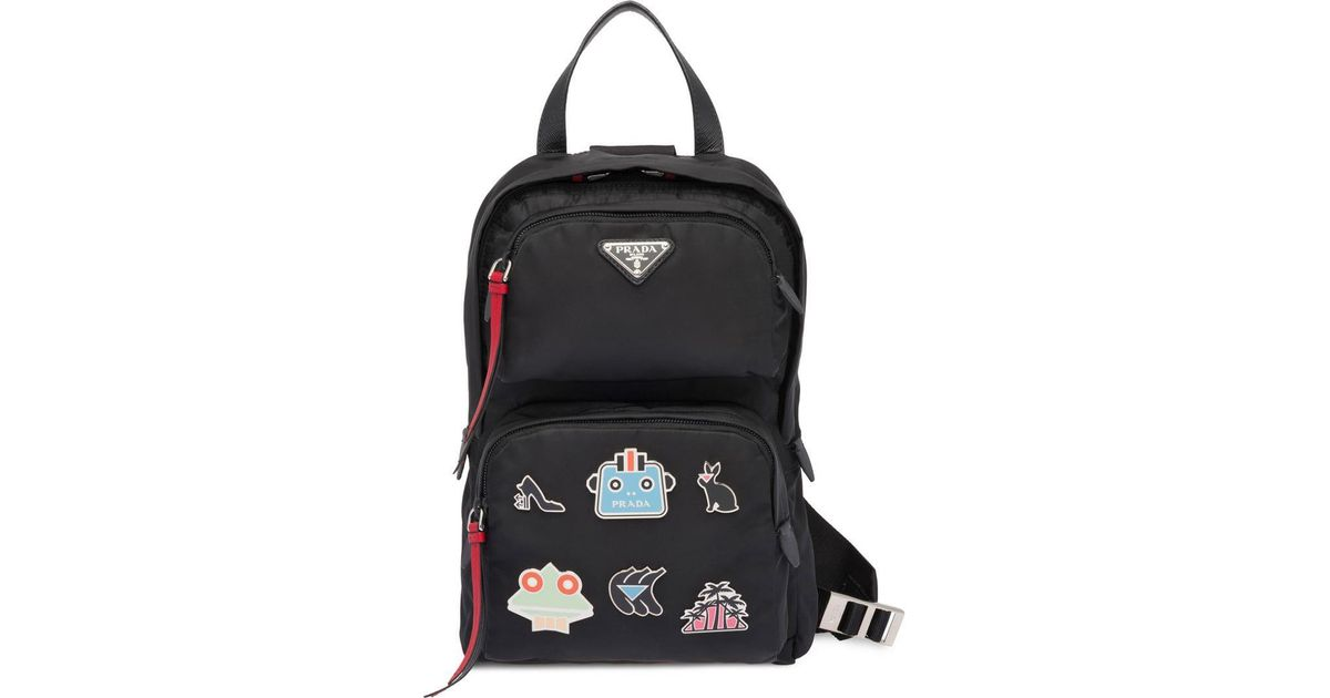 bd9aa869ef Lyst - Prada One-shoulder Backpack in Black