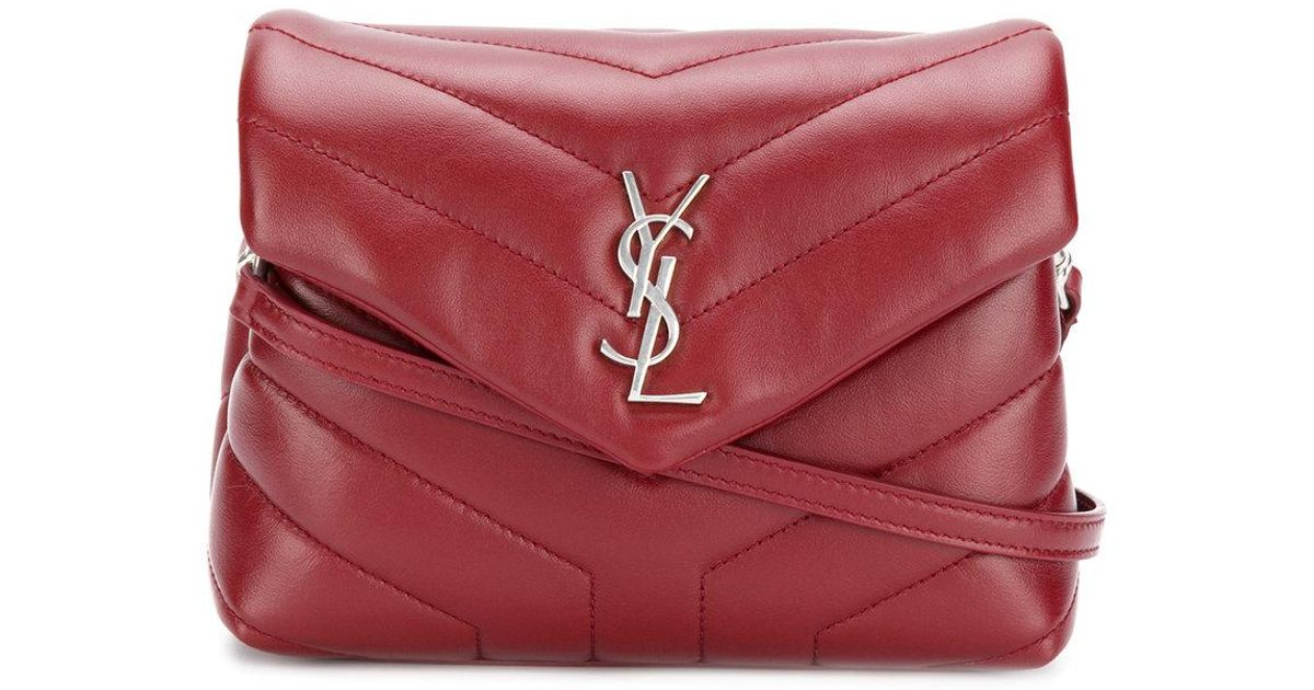 cb939a22b2591 Lyst - Saint Laurent Toy Loulou Bag in Red