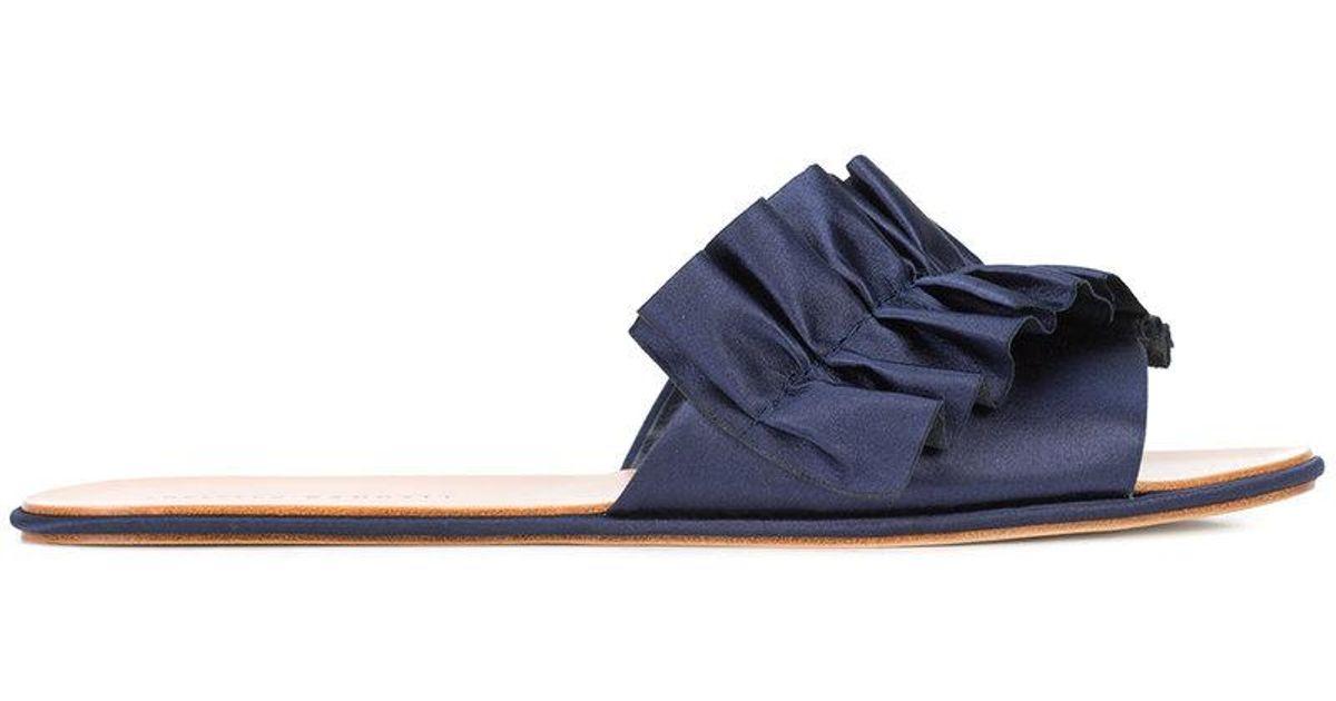 Rey Sandales Plates - Bleu Loeffler Randall dSk5dNV6