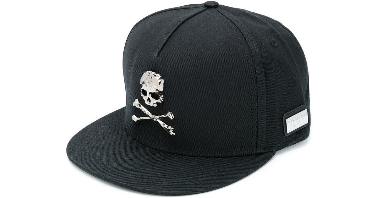 b5e7440a4a1 Philipp Plein Jordan Baseball Cap in Black for Men - Lyst