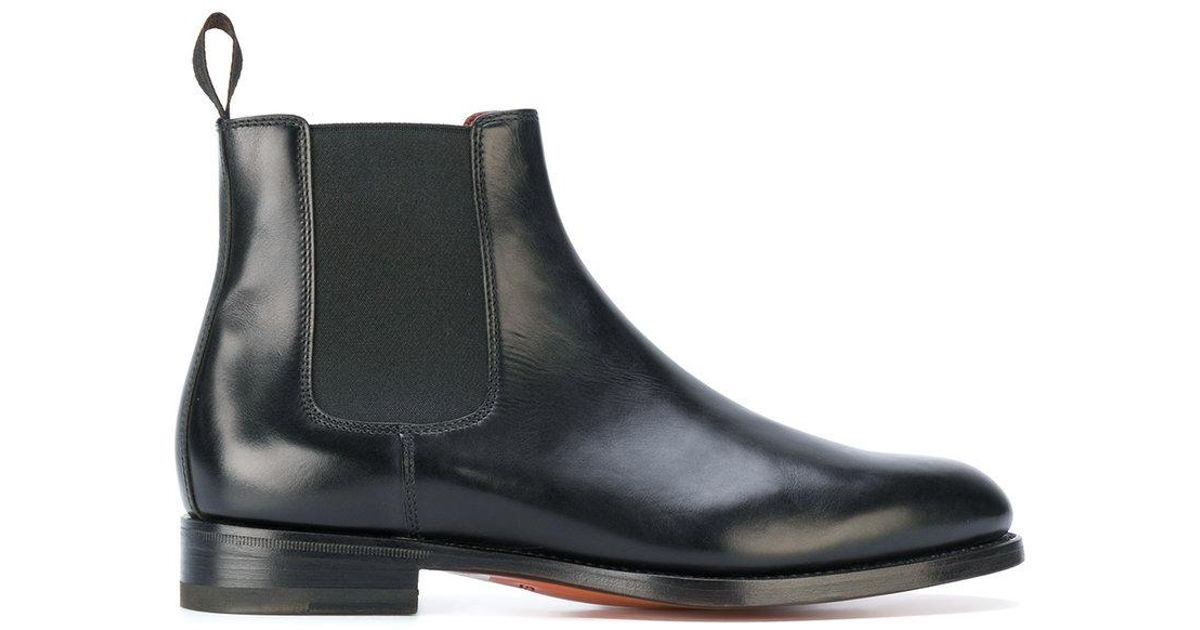 santoni chelsea boots in black lyst. Black Bedroom Furniture Sets. Home Design Ideas