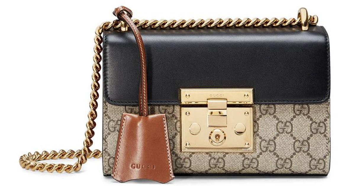 f76d78a1552 Lyst - Gucci Padlock GG Supreme Shoulder Bag in Natural - Save 6%