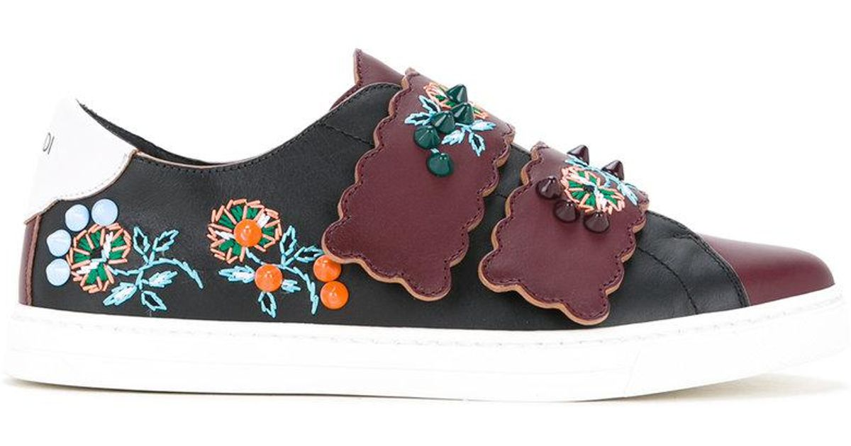recommend online low shipping fee for sale Fendi floral patch sneakers clearance from china discount sneakernews joJitB