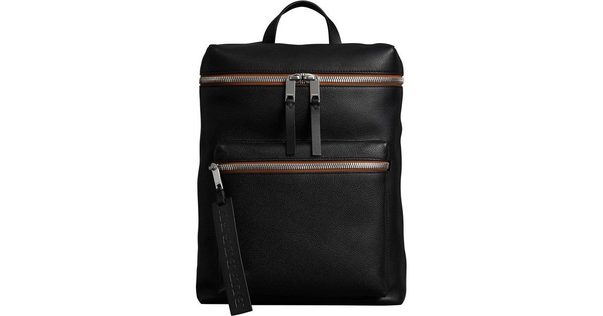 Burberry - Black Zip-top Leather Backpack - Lyst 84f30f0530e5b