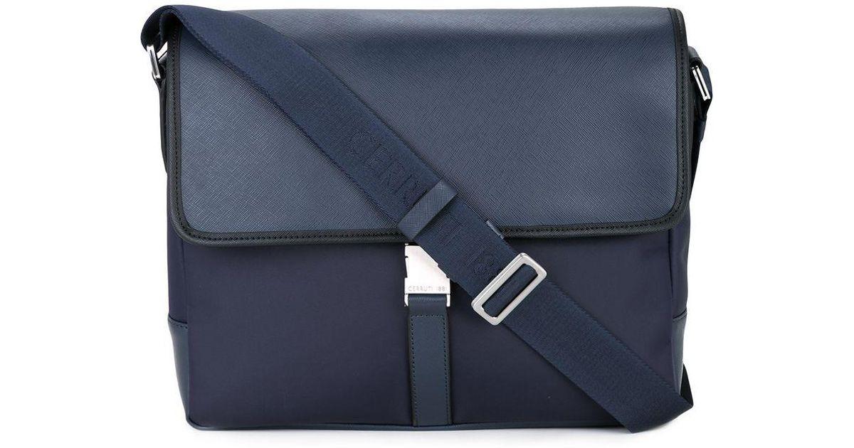 0be698ee087 Cerruti 1881 Laptop Bag in Blue for Men - Lyst