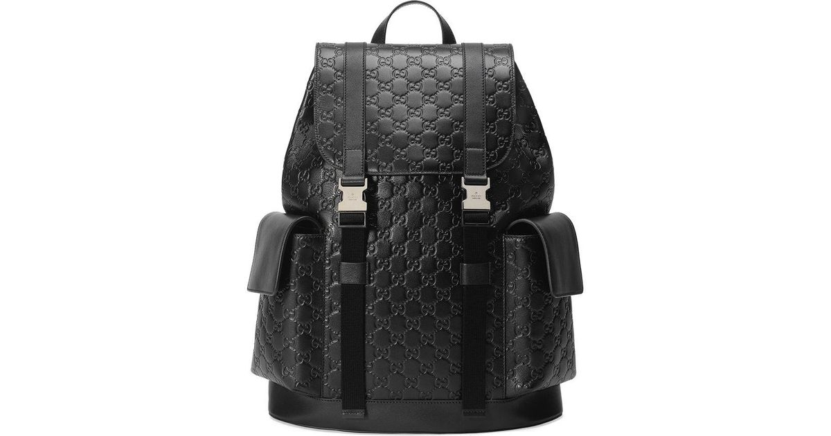 bd307edd08a Lyst - Gucci Signature Backpack in Black for Men