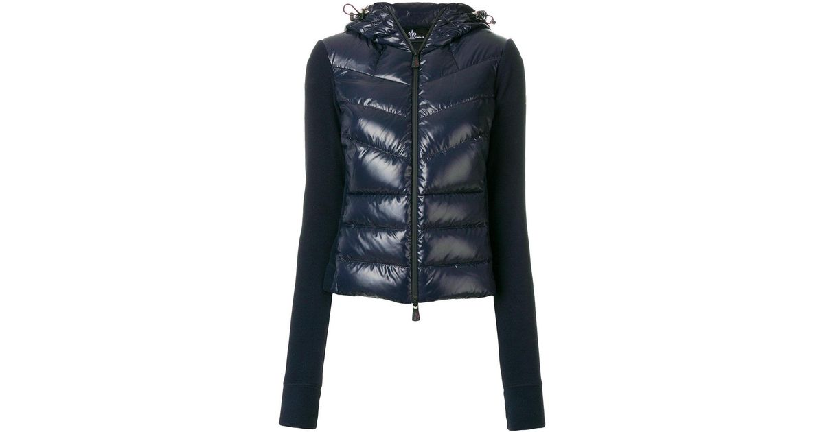 b5b479a06374 Lyst - Moncler Grenoble Grenoble Panelled Puffer Jacket in Blue