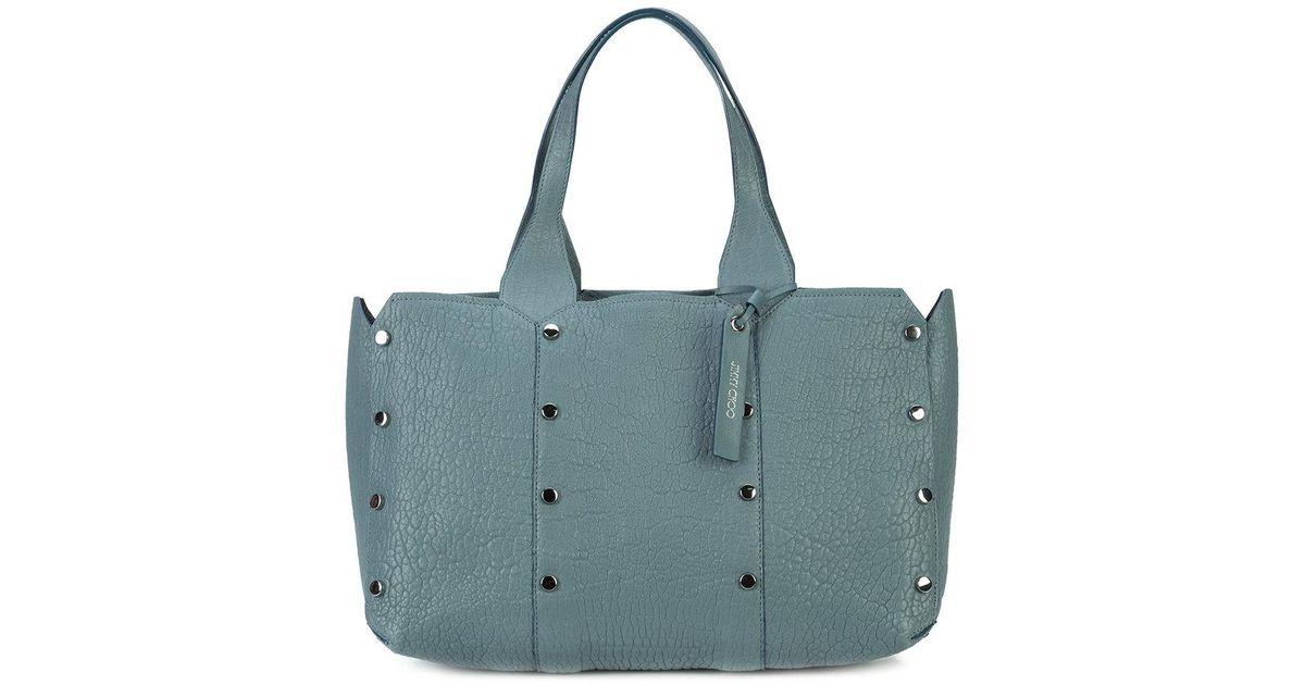 714abd0577c3 Lyst - Jimmy Choo Lockett Shopper Tote in Blue