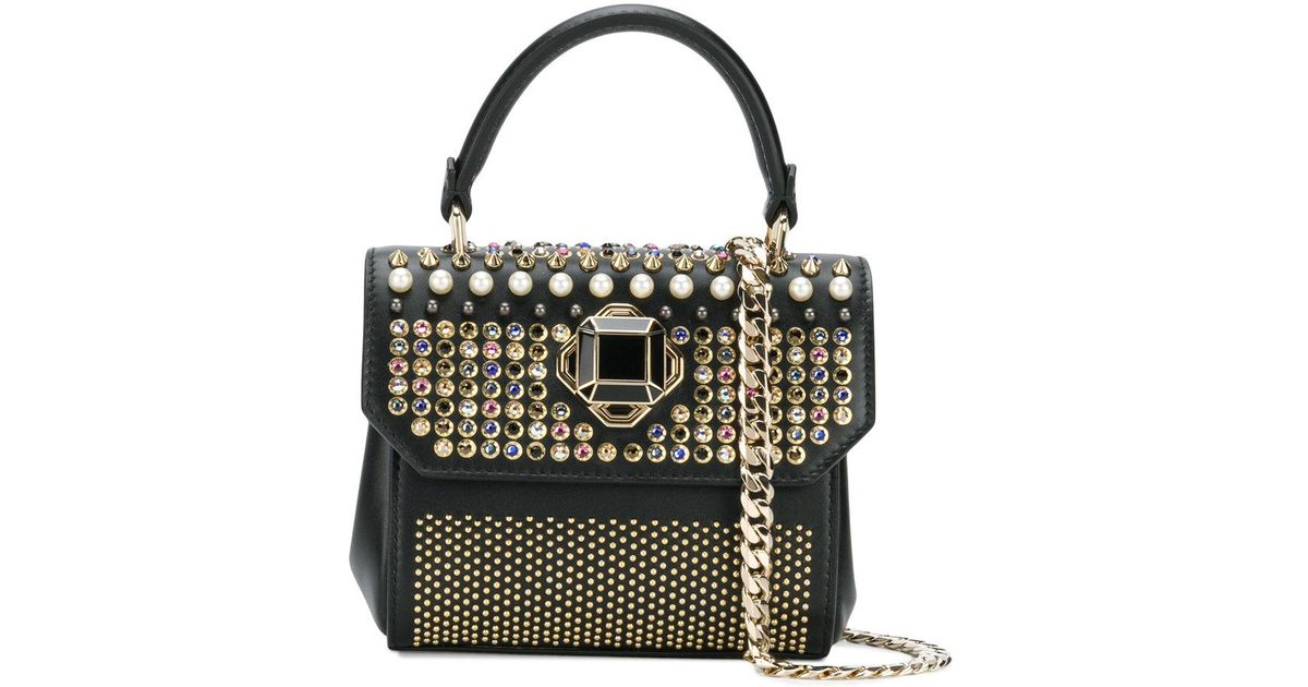 b8f5eaf0e7 Lyst - Elie Saab Swarovski Crystal Embellished Mini Handbag in Black