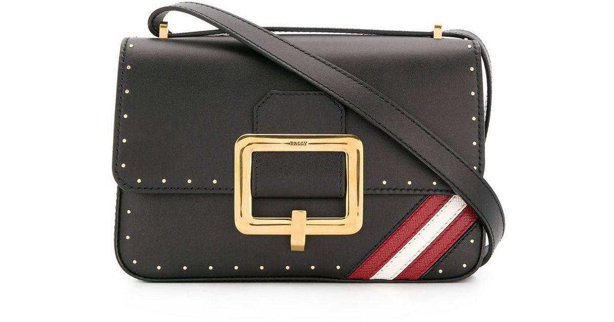 0d2afddb4cdf Lyst - Bally Foldover Top Satchel Bag in Black