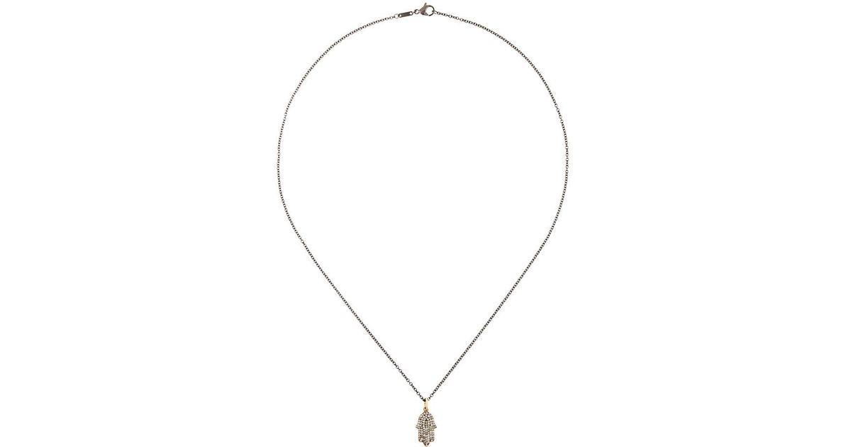 Ileana Makri large Thunder pendant necklace - Metallic Hxx0nn