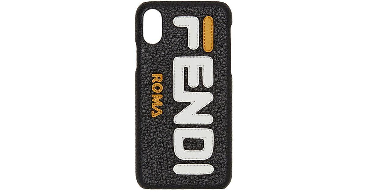 fdad31a96b19 Lyst - Fendi Mania Iphone X Case in Black