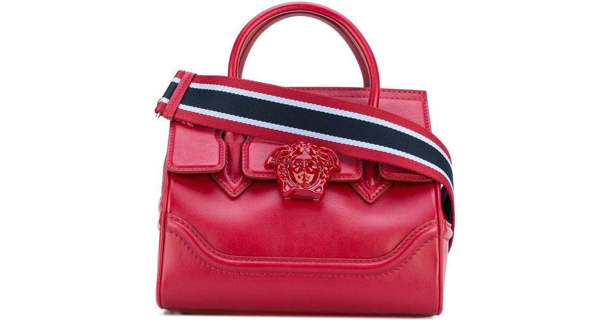 Lyst - Versace Palazzo Empire Shoulder Bag in Red 120d8c674a622