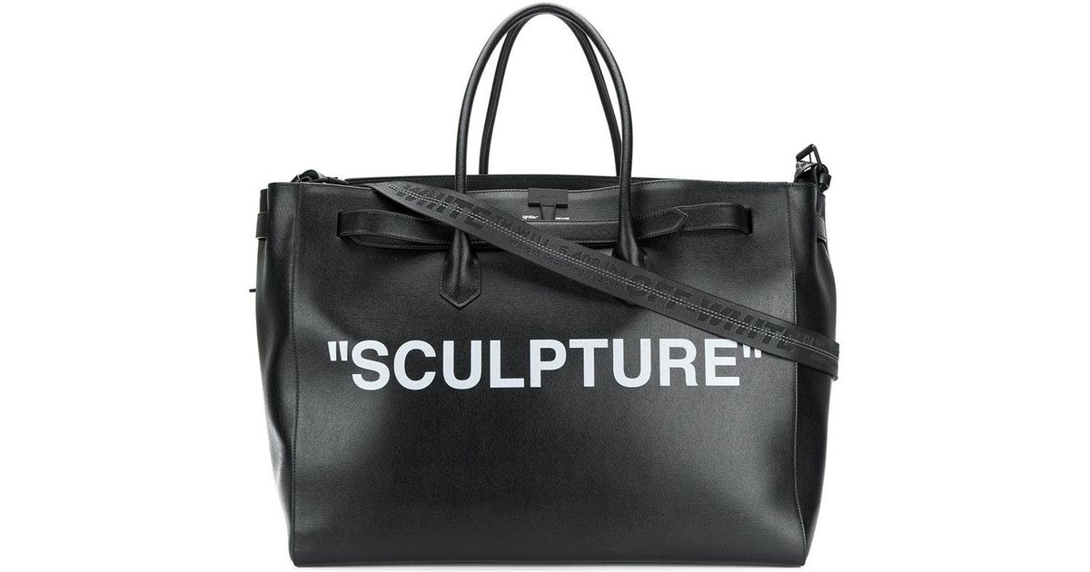 Off White Co Virgil Abloh Sculpture Luggage Bag In Black Lyst
