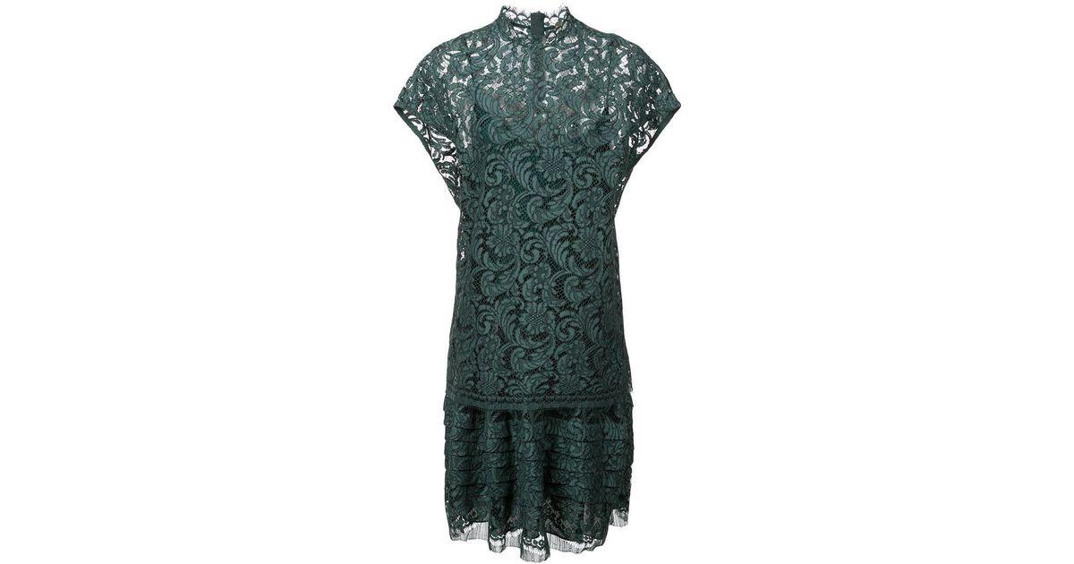 Layer Midi Lyst Dress Adam Lippes Green Double In E9DWHY2I