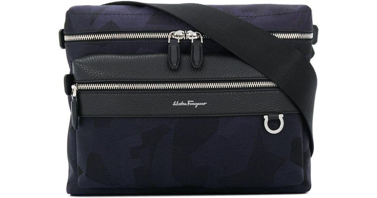 new cheap free delivery buying cheap Sac porté épaule à poche zippée Ferragamo pour homme en coloris Blue