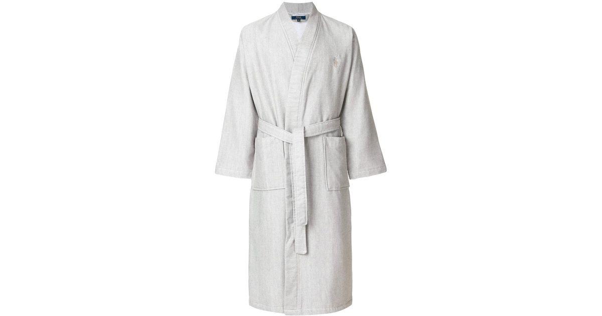 Lyst - Polo Ralph Lauren Kimono Robe in Gray for Men