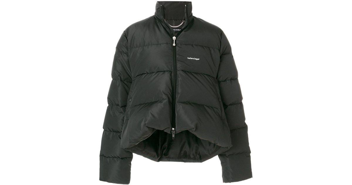 38418d0a85b0 Lyst - Doudoune à Logo Poitrine Brodé Balenciaga pour homme en coloris Noir