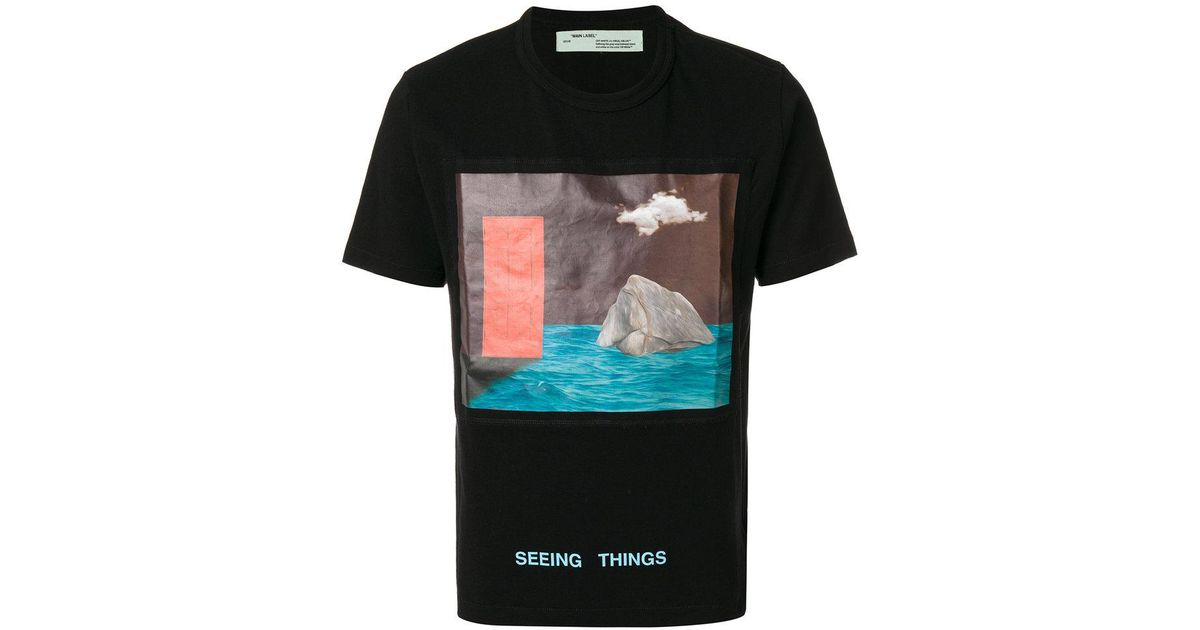 72d58cc0 Off-White c/o Virgil Abloh Seeing Things T-shirt in Black for Men - Lyst