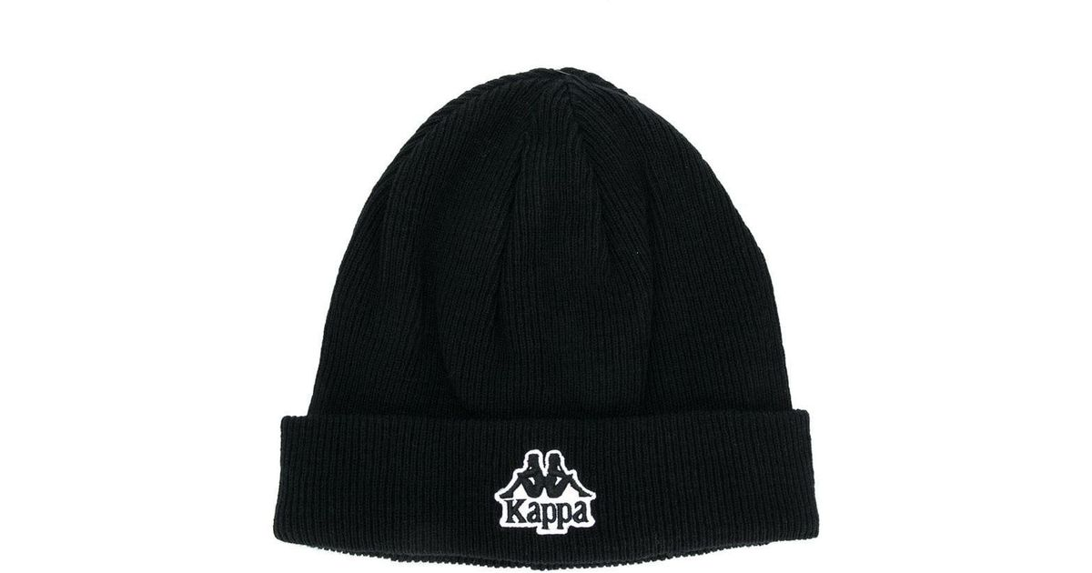 Lyst - Kappa Logo Embroidered Beanie in Black for Men c8e05756ef9