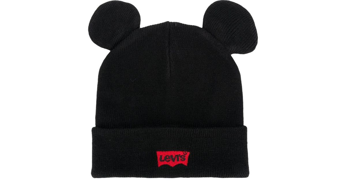 Lyst - Levi s ® X Mickey Batwing Beanie in Black dd92f62e601
