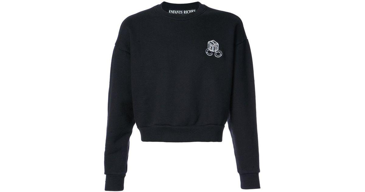 round neck cropped sweatshirt - Black Enfants Riches Deprimes Buy Online Outlet Sale Get Authentic Cheap Sale Excellent qQ7NLSi