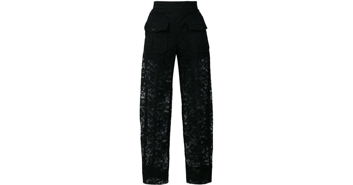 sheer lace trousers - Black Chloé