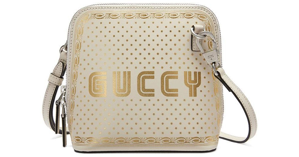Guccy print mini shoulder bag - White Gucci E5IvTlDzq