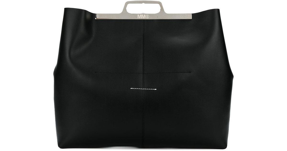 new product 6e3d8 38772 mm6-by-maison-martin-margiela-Black-Slim-Handle-Tote-Bag.jpeg