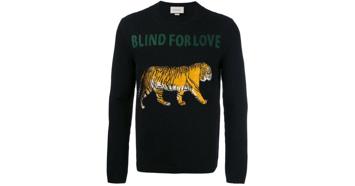 1ec33c4a9b Gucci Blind For Love Jumper in Black for Men - Lyst