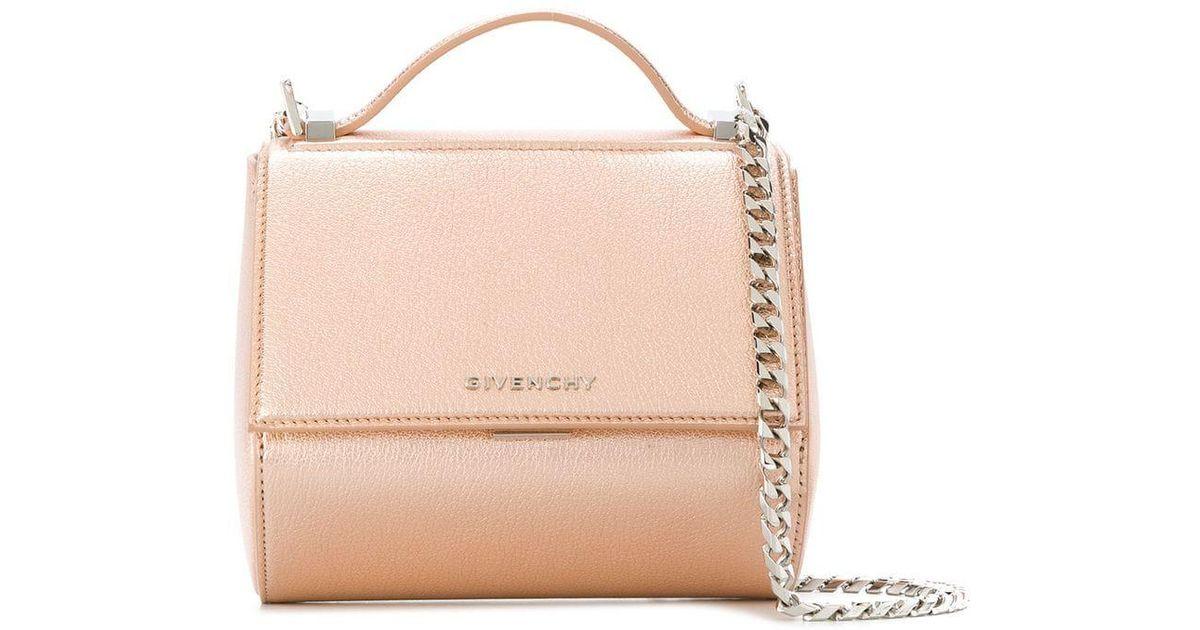 c56c5905a9 Lyst - Givenchy Mini Pandora Box Chain Bag in Pink