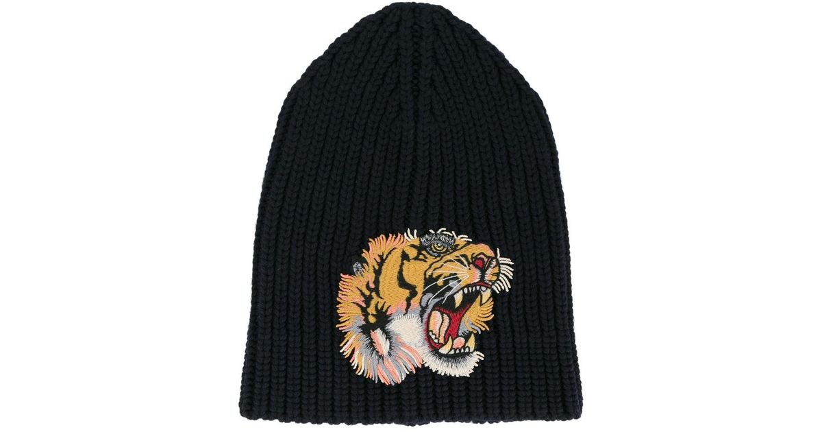 Tiger-embroidered beanie hat Gucci fQrVt