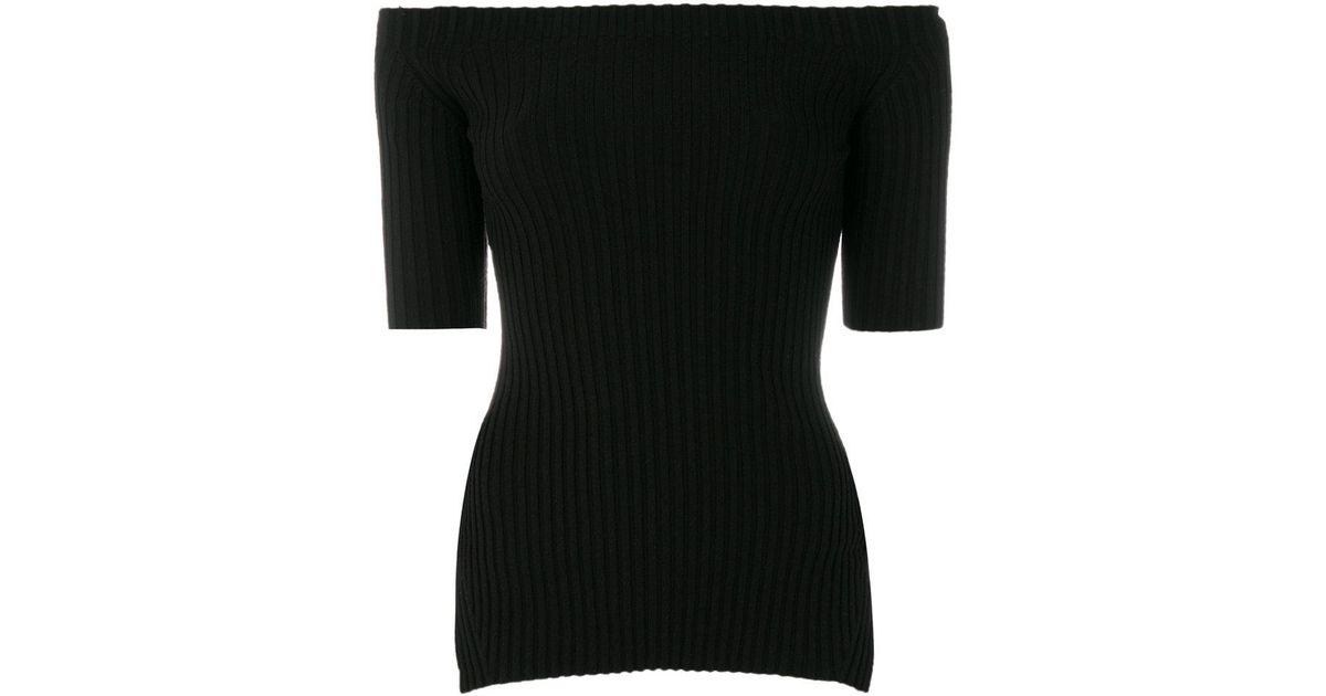 helmut lang bandeau top in black lyst. Black Bedroom Furniture Sets. Home Design Ideas