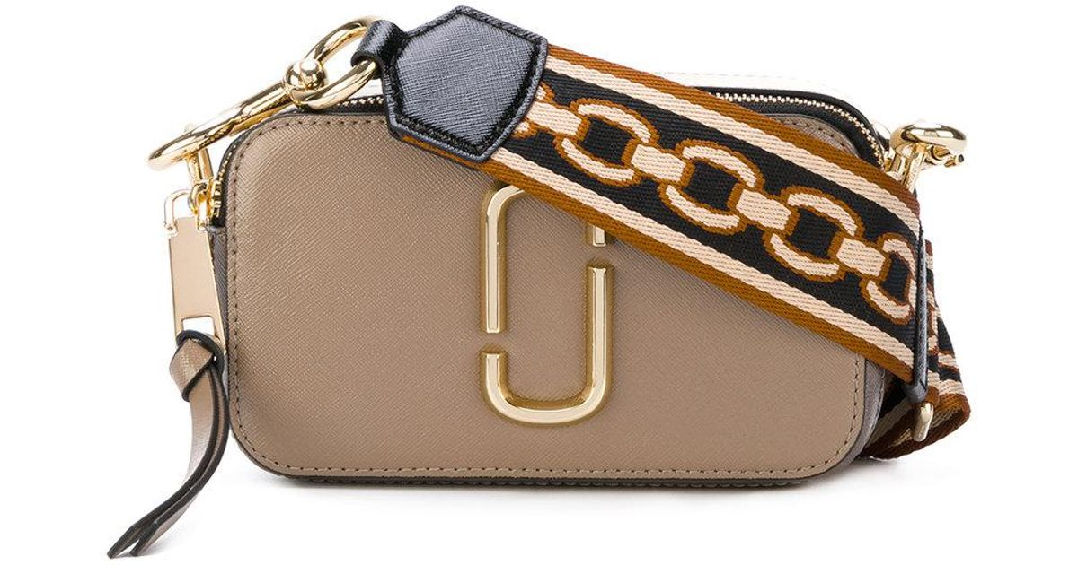 61ff6ffbec88 Lyst - Marc Jacobs Snapshot Small Camera Bag in Gray