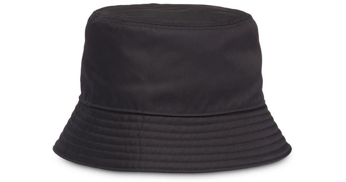 d15d1d475b3 Prada Technical Fabric Cap in Black - Lyst