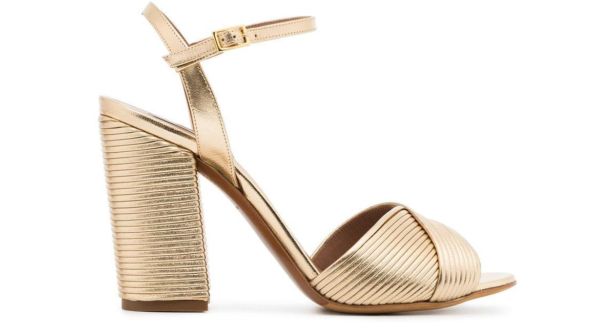 Tabitha Simmons Gold kali champagne 100 leather sandals OTL8P