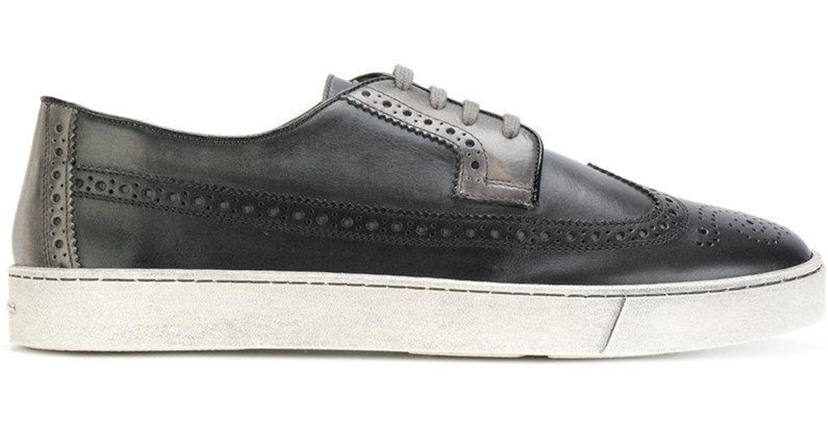 embroidered sneakers - Black Santoni 7qJ4OPI